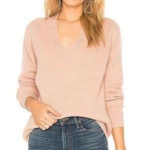 Vince Wool Raglan Sleeves V-Neck Pullover Sweater